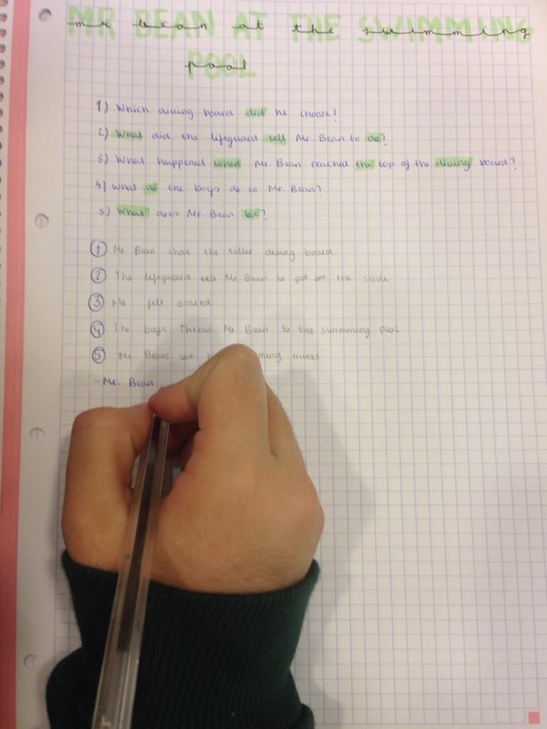 KET 2 - Mr Bean comprehension task